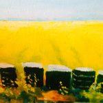 lentekriebels acryl, 40 x 40 verkocht